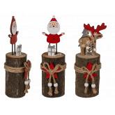 Décoration de Noël en bois sur socle