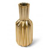 Vase origami resine noir mat