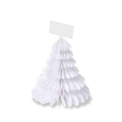 4 Sapins alvéoles marque places blanc