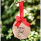 8 étiquettes boules de Noël kraft et ruban