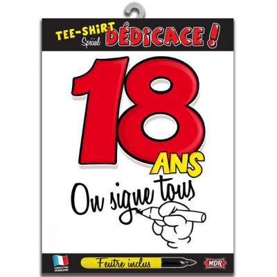 Tee-shirt anniversaire à signer 18 ans type