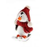 3 pingouins à ski 3x4,5 cm