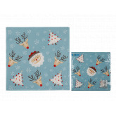Serviettes de table Crazy Winter x20