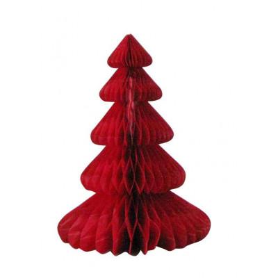 Sapin alvéolé rouge 30 cm