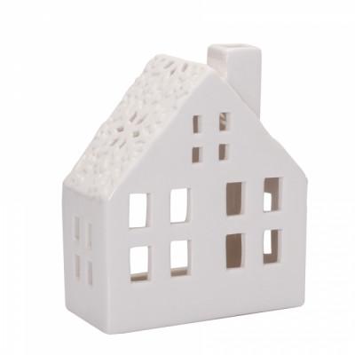 Maison photophore blanche 10x5cm
