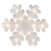 Flocon de neige blanc LED
