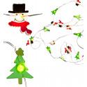 Guirlande lumineuse de Noël bonhommes et sapins