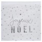 Serviette joyeux Noël or x20