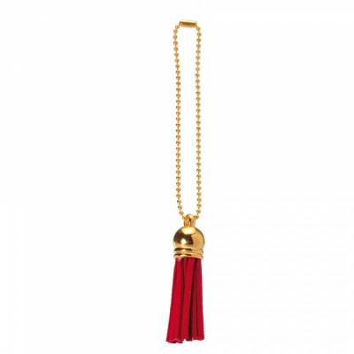 Floches rouges et chainettes dorées x 6