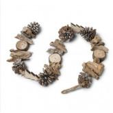 Guirlande naturelle en bois 1M