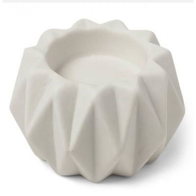 Bougeoir origami en résine blanc