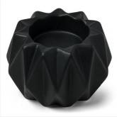 Bougeoir origami en résine noir