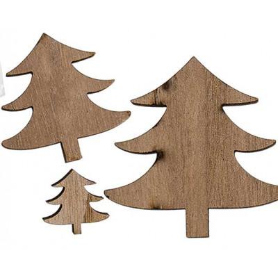 Décorations de Noël en bois 12 pièces