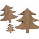 Sapins de Noël en bois x 12