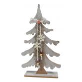 Sapin de Noël en bois pailleté 42 cm