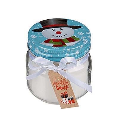 Bougie de Noël bonhomme de neige