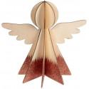 Ange en bois coloris cuivre