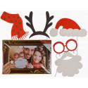 Accessoires photobooth Noël - batonnet et cadre