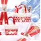 Grand panier motif Noël en fourrure