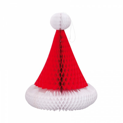 Bonnet de Père Noël alvéolé à suspendre