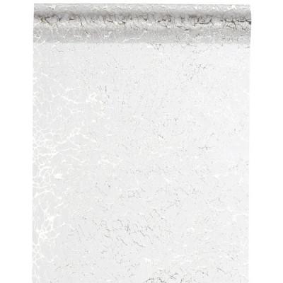 Chemin de table Eclat blanc / argent