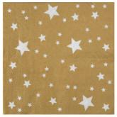Serviettes étoiles or (x10)
