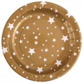 Assiette étoiles or (x10)