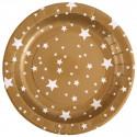 Assiettes étoiles or (x10)