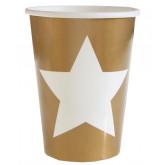 Gobelets étoiles or (x10)