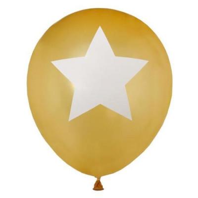 Ballons étoile or x8