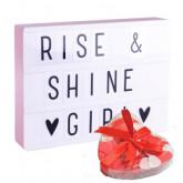 Lightbox A4 Rose + confettis de bain Offert