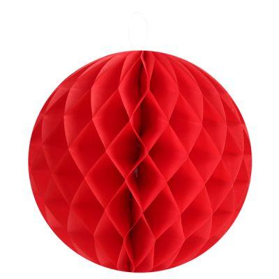 Boules décoratives alvéolées MM (x2) rouge