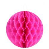 Petites boules décoratives alvéolées (x2) fuchsia