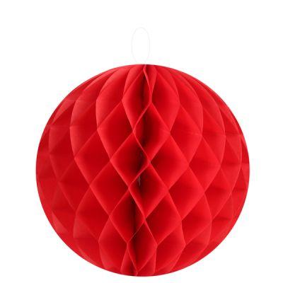 Petites boules décoratives alvéolées (x2) rouges