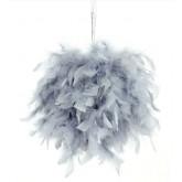Boule géante en plume gris