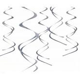 Suspensions spirales (x5) argent