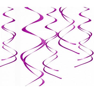 Suspensions spirales (x5) fuchsia