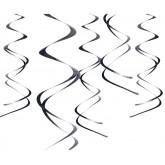 Suspensions spirales (x5) noir