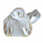 Boîte à dragées calice or pour communion