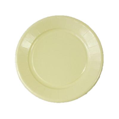 Assiettes carton de couleur (x20) ivoire