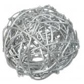 Boules en rotin argent (x10)