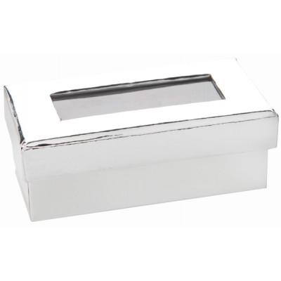 Boîtes à dragées rectangulaires (x6) argent