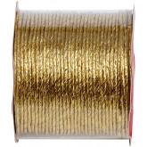 Cordelette laitonnée métallisée or