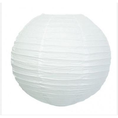 Lampion boule déco blanc