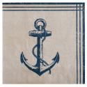 Serviettes en papier Ancre marine (x20)