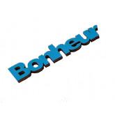 Mots « BONHEUR » sur sticker turquoise