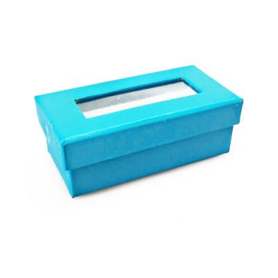 Boîtes à dragées rectangulaires (x6) turquoise