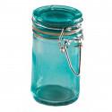 Bocal en verre de couleur turquoise