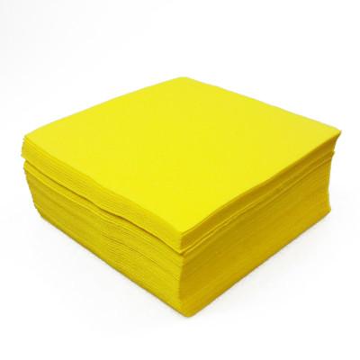 Serviettes de couleur jaune (x40)