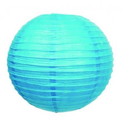 Lampion boule déco turquoise